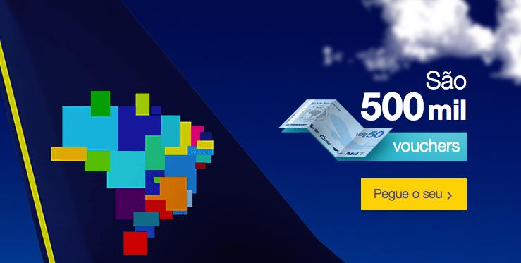 Azul oferece 500 mil vouchers de R$ 50