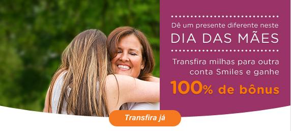 Promoção Smiles Dia das Mães: 100% de Bônus